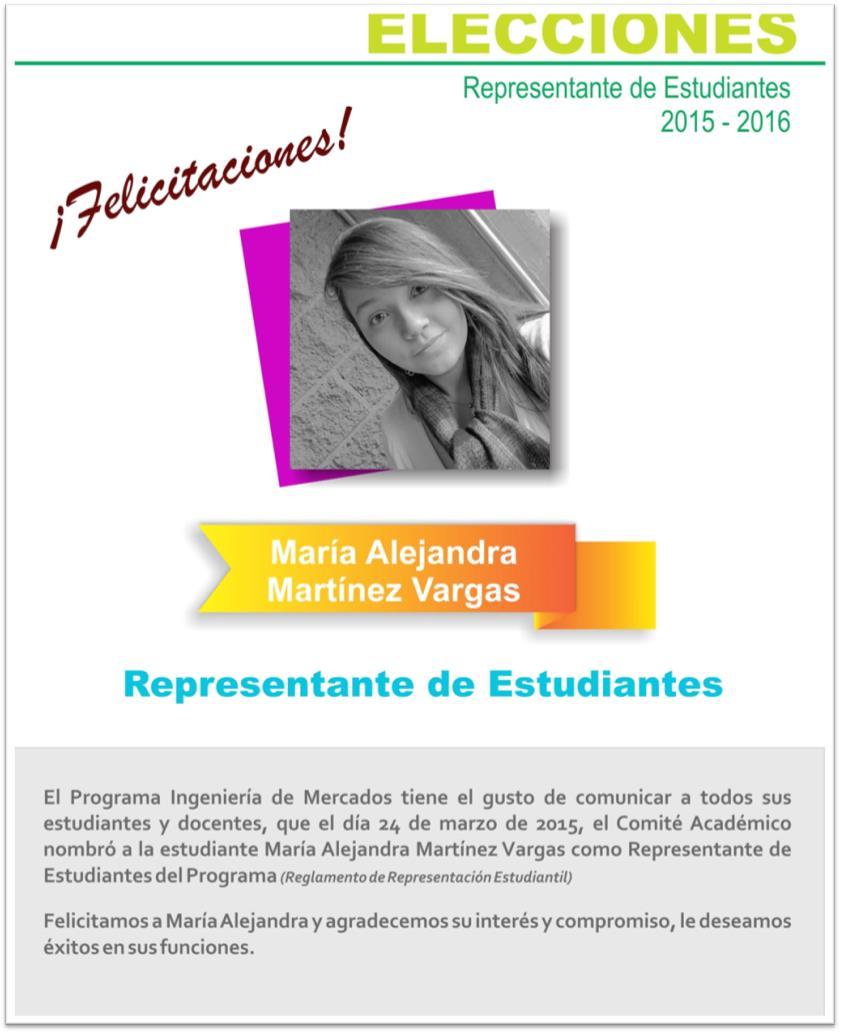 REPRESENTANTE DE ESTUDIANTES PERIODO 2015-2016