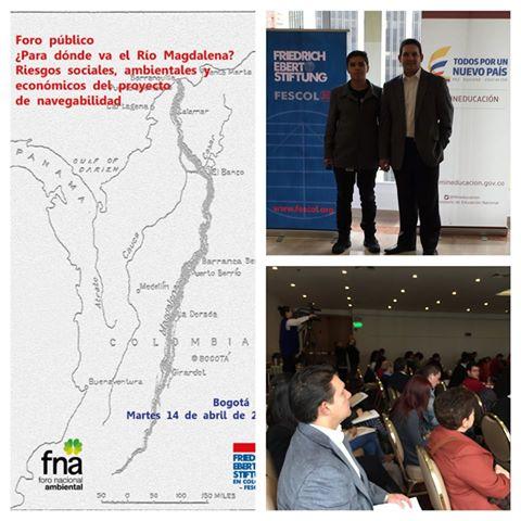 ¿Para dónde va el río Magdalena? Riesgos sociales, ambientales y económicos del proyecto de navegabilidad, organizado por el Foro Nacional Ambiental (FNA).