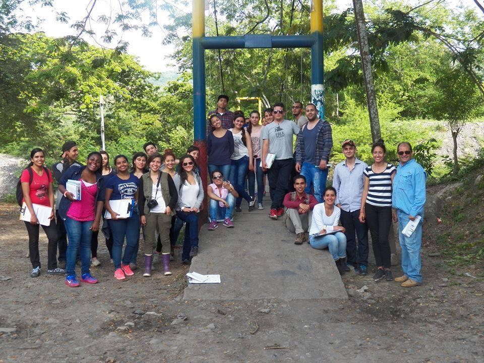 Salida de campo, Útica (Cundinamarca), curso Riesgos y Desastres, Abril 2015