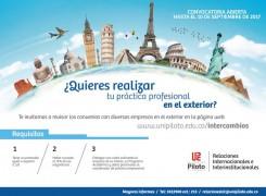 ¿Quieres realizar tu práctica profesional en el exterior?