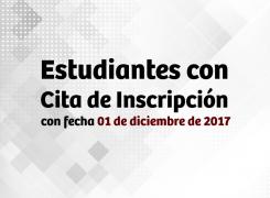 Sistema habilitado para estudiantes con fecha 1 diciembre