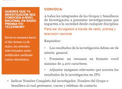 CONVOCATORIA PARA LA DIVULGACIÓN DE INVESTIGACIONES EN PRENSA, RADIO Y/O TELEVISIÓN