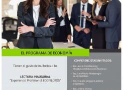 """LECTURA INAUGURAL: """"Experiencia Profesional ECOPILOTO"""""""