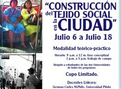 Curso Intersemestral: Construcción del tejido social en la Ciudad