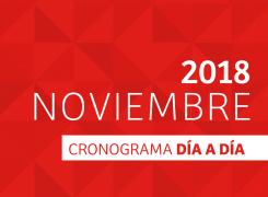 CRONOGRAMA DÍA A DÍA // NOVIEMBRE – 2018