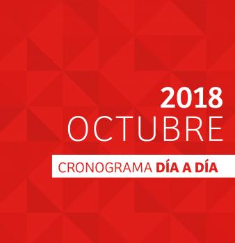 CRONOGRAMA DÍA A DÍA // OCTUBRE – 2018