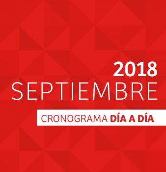 CRONOGRAMA DÍA A DÍA // SEPTIEMBRE – 2018