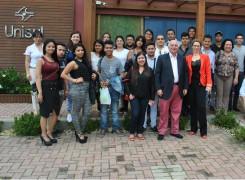 Comitiva colombiana se despede da Unisul UNIVERSIDAD DO SOUL DE SANTA CATARINA