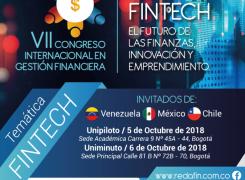 """REDAFIN: """" VII CONGRESO INTERNACIONAL EN GESTION FINANCIERA -FINTECH EL FUTURO DE LAS FINANZAS, INNOVACION  Y ENPRENDIMIENTO"""