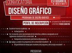 CONVOCATORIA: REPRESENTANTE ESTUDIANTIL 2015/3-2017-1. DISEÑO GRÁFICO