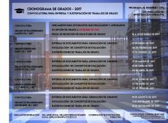 Cronograma de Grados ING. CIVIL 2017