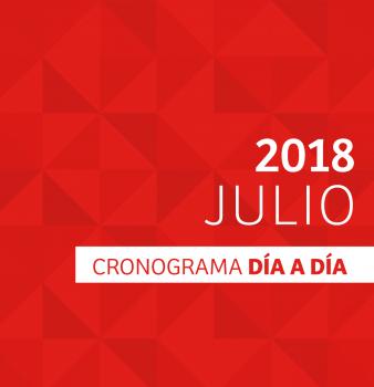 CRONOGRAMA DÍA A DÍA // JULIO – 2018
