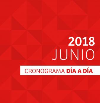 CRONOGRAMA DÍA A DÍA // JUNIO – 2018
