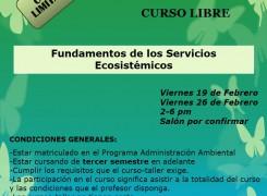 """Curso libre Jornada de Actualización """"Fundamentos de los Servicios Ecosistémicos (SE)"""""""