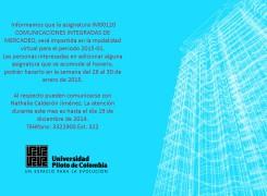 ASIGNATURA COMUNICACIONES INTEGRADAS: MODALIDAD VIRTUAL