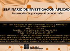 SEMINARIO DE INVESTIGACION APLICADA COMO OPCION DE GRADO