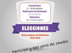ELECCIÓN A REPRESENTANTE DE ESTUDIANTES