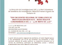 ENCUENTRO REGIONAL DE SEMILLEROS DE INVESTIGACIÓN