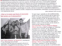 ESTUDIANTES DE INTERCAMBIO ¡UNA EXPERIENCIA DE VIDA!