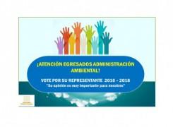 Representante de Egresados del Programa de Administración Ambiental.