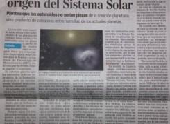 Nueva teoría sobre el origen del sistema solar