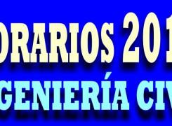 HORARIOS 2016 ING. CIVIL
