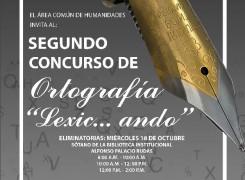 Segunda versión del concurso de ortografía: Lexic…ando