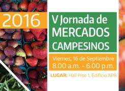 V Jornada de Mercados Campesinos / Septiembre / 2016