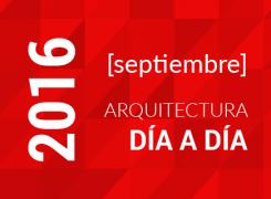 Arquitectura día a día / Cronograma Septiembre / 2016