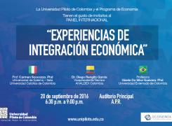 """Panel internacional """" Experiencias de Integración Económica"""""""