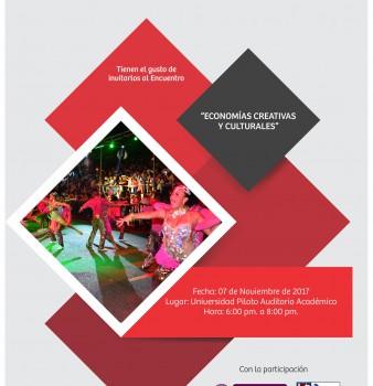 Invitación al Encuentro de Economías Creativas y Culturales