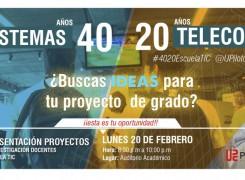 Presentaciones de proyectos de investigación docentes Escuela TIC