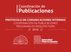 Protocolo de comunicaciones y publicaciones / 2016