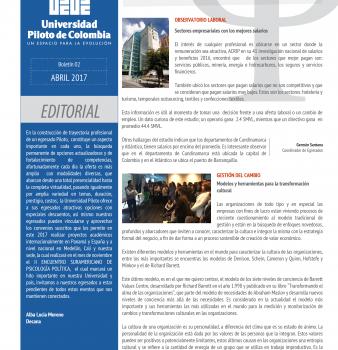 Boletín. Psicoegresados Abril 2017