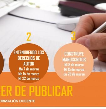 CURSO/TALLER PARA DOCENTES: EL PLACER DE PUBLICAR