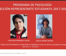 Elección de representante estudiantil 2017-2019