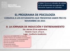 INDUCCIÓN SABER PRO- PROGRAMA DE PSICOLOGÍA