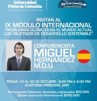 """Inscripciones IX Módulo Internacional """"PROBLEMAS GLOBALES EN EL MUNDO ACTUAL, LOS OBJETIVOS DE DESARROLLO SOSTENIBLE"""""""