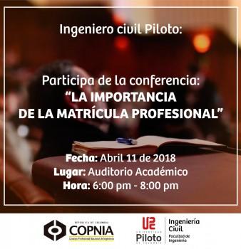 Conferencia: La importancia de la matrícula profesional