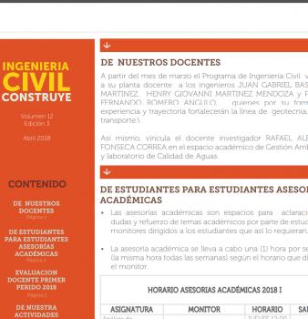 BOLETIN INFORMATIVO ABRIL (INGENIERÍA CIVIL CONSTRUYE)