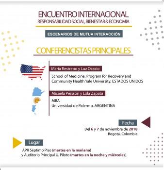 """ENCUENTRO INTERNACIONAL: """"RESPONSABILIDAD SOCIAL, BIENESTAR & ECONOMÍA"""""""