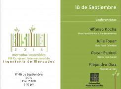 AGENDA 18 DE SEPTIEMBRE VIII CONGRESO INTERNACIONAL INGENIERÍA DE MERCADOS