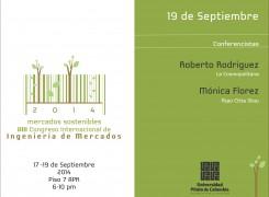 AGENDA 19 DE SEPTIEMBRE VIII CONGRESO INTERNACIONAL DE INGENIERÍA DE MERCADOS