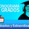 Cronograma de Grados Ordinarios y Extraordinarios 2015