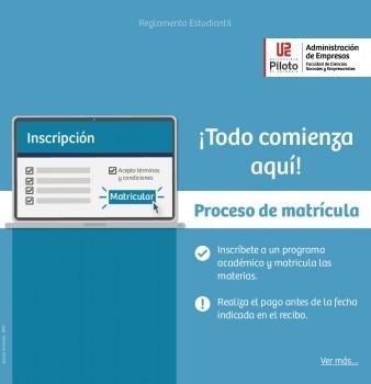 Conoce el Reglamento Estudiantil – Proceso de Matrícula