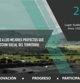 CONVOCATORIA RECONOCIMIENTO A LOS MEJORES PROYECTOS QUE HACEN CONSTRUCCIÓN SOCIAL DEL TERRITORIO