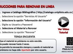 RENOVACIÓN DE LIBROS EN LÍNEA