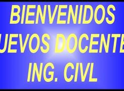 BIENVENIDOS NUEVOS DOCENTES
