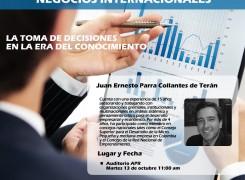 Conferencia LA TOMA DE DECISIONES EN LA ERA DEL CONOCIMIENTO