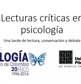 CLUB DE LECTURA. LECTURAS CRÍTICAS EN PSICOLOGÍA